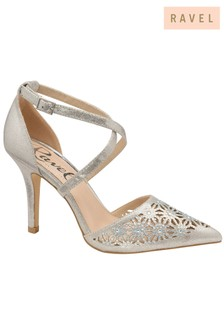 Ravel Pointed Toe Leather Heels