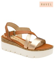 Ravel Flatform Leather Sandals