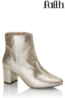 Faith Metallic Ankle Boots