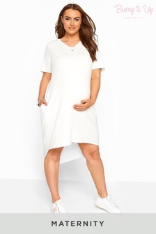 Bump It Up Maternity Hooded Jersey Dress
