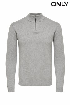 Only & Sons High Neck Knit Pullover