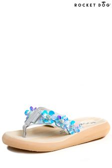 Rocket Dog Wooden Flatform Flip Flop