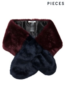 Pieces Faux Fur Collar Scarf