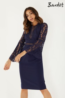 Bardot Bodycon Lace Dress