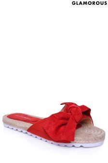 Glamorous Bow Sandals