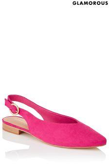 حذاء مسطح مدبب بحزام كاحل خلفي من Glamorous