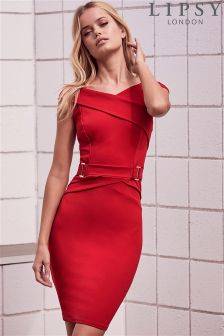 Lipsy Buckle Waist Bodycon Dress