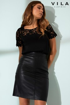 Faux Leather Skirts  6cfe2fdae