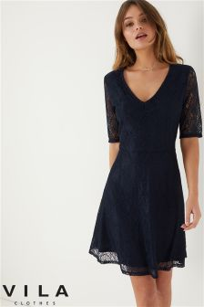 Vila Lace Skater Dress
