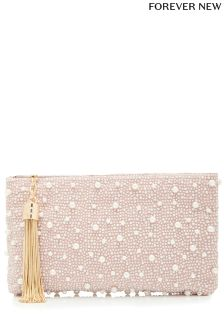 Forever New Pia Soft Pearl Embellished Clutch Bag