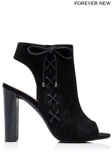 Forever New Cross Lace Peep Toe Boots