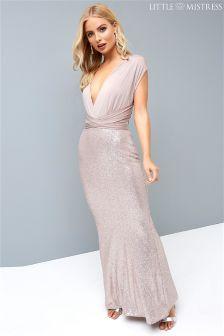 Koronkowa sukienka maxi Little Mistress Multiway Bridesmaid z cekinami