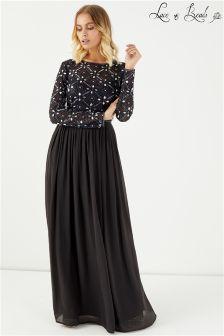 فستان ماكسي مزخرف بدون ظهر من Lace & Beads