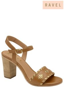 Ravel Mid Heel Studded Sandals