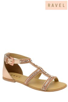 Ravel Embellished Flat Sandals
