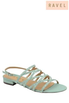 Ravel Flat Cross Strap Sandals