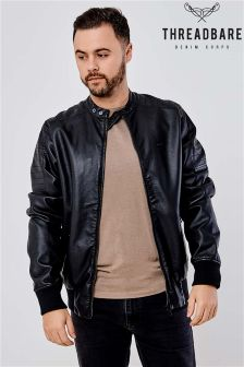 Threadbare Faux Leather Biker Jacket