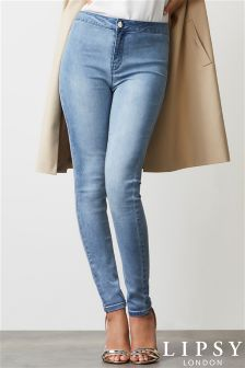 Lipsy Selena High Waist Skinny Long Length Jeans