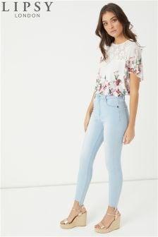 Lipsy Selena Skinny-Jeans mit Stufensaum