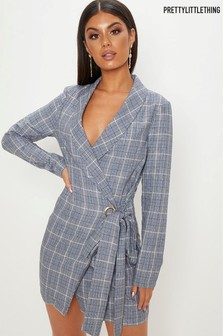 PrettyLittleThing Check Blazer Dress