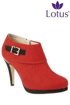 Lotus Heel Shoe Boots