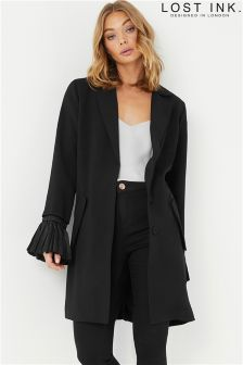 Lost Ink Pleat Sleeve Duster Jacket