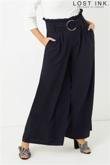 Lost Ink Curve Wide Leg Trousers