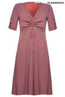 Glamorous Curve Check Midi Dress