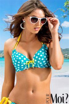 Pour Moi Starboard Halter Triangle Underwired Bikini Top