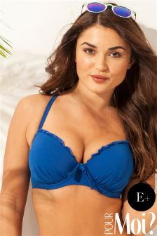 Pour Moi Pool Party Padded Underwired Bikini Top E+