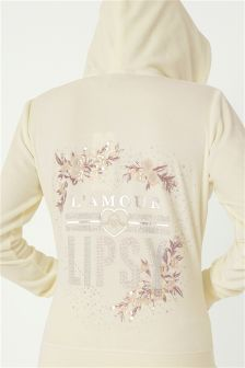 Lipsy Velour L'amour Hoodie