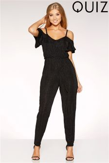 Quiz Glitter Brillo Strappy Jumpsuit