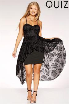 Quiz Strappy Dip Hem Dress