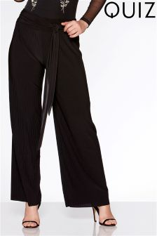 Quiz Tie Front Pleated Trousers