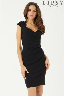 Lipsy Cap Sleeve Ruched Bodycon Dress