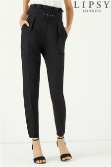 Lipsy High Waisted Paperbag Tailored Trousers