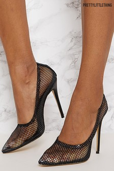 PrettyLittleThing Mesh Court Shoes