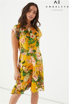 Angeleye Floral Print Skater Dress