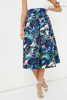 Angeleye Printed Midi Skirt
