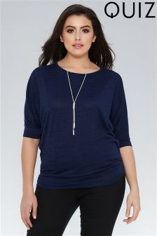 Quiz Curve Necklace Top