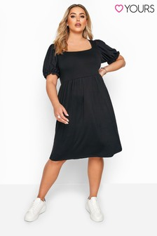 Yours Curve Broderie Anglaise Sleeve Dress