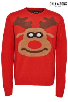 Only & Sons Christmas Deer Jumper