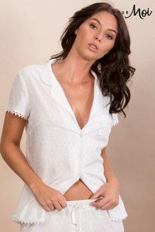Pour Moi Fiesta Short Sleeve Pyjama Top