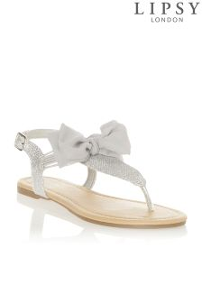 Lipsy Metallic Bow Sandals