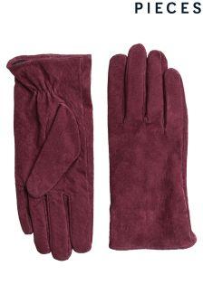 Zamszowe rękawiczki Pieces