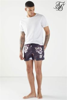 SikSilk Floral Print Swim Shorts