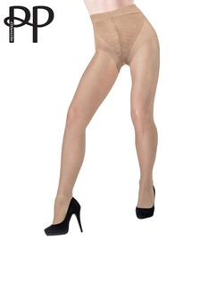 Pretty Polly Patterned Brief Firm Shaper Tights