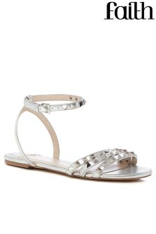 Faith Pyramid Studded Flat Sandals