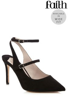 Faith Wide Fit Ankle Strap Mary Jane Courts