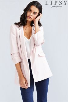 Lipsy Tailored Ruched Sleeve Blazer